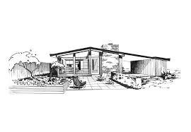 ridgewood house sketch st louis midcentury modernism ralph