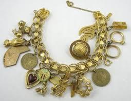 charm bracelet gold vintage images Monet charm bracelet garden party collection vintage jewelry jpg