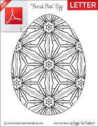 free easter colouring floral star egg colouring tangling