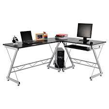 Rattan Computer Desk Homcom Corner Computer Desk For The Home Office Sturdy Furniture