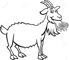 farm animal coloring book black and white cartoon illustration of funny goat farm animal