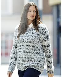 space dye plus size sweater from simply be plus model magazine