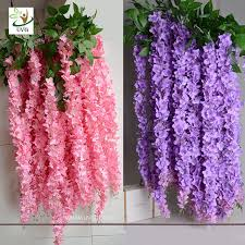 cheap artificial flowers uvg wis006 indoor cheap flowers with silk wisteria for home