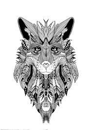 zentangle wolf krissy zentangle coloring pages for adults