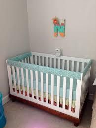 nursery decor u2013 crib rail cover u2013 litcentric
