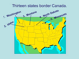 map us states bordering canada u s geography from sea to shining sea ppt