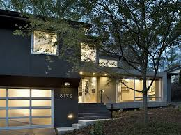 split level house exterior contemporary with entrance single front