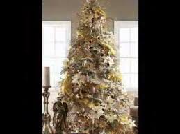 Decorated Christmas Trees In Gold by Gold Christmas Tree Decorating Ideas Youtube