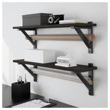 ekby hemnes shelf black brown 79x19 cm ikea