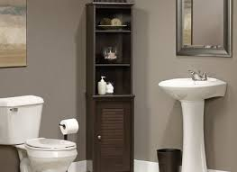 Bathroom Tower Storage Bathroom Linen Tower With Shelved Cabinet Storage And 4 Drawers