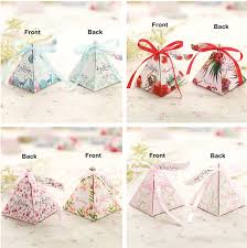 wedding favours 300 x triangle wedding favours candy party gift boxes bags