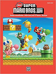 new mario bros wii intermediate advanced piano solos