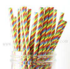 paper straws rainbow paper straws colored rainbow striped paper straws 500pcs