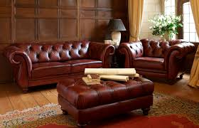 Gordon Tufted Sofa by Furniture Home Furniture With Leather Chesterfield Sofa And
