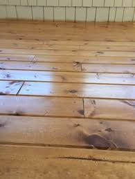 a country farmhouse how to seal raw pine floors so they look