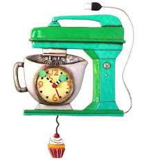 designer kitchen wall clocks amazon com allen design studios