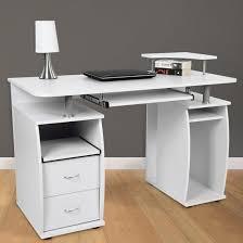 tablette de bureau bureau avec tablette pour clavier en blanc achat vente bureau