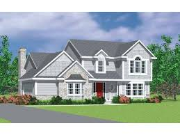 Gable Roof House Plans Gabled Roof Lines Hwbdo03770 Colonial From Builderhouseplans Com