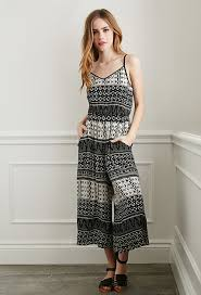 forever 21 white jumpsuit forever 21 abstract print culottes jumpsuit where to buy how