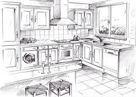 dessins cuisine armoire de cuisine bois massif cuisirama