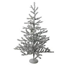 36 flocked alpine coral artificial tree unlit