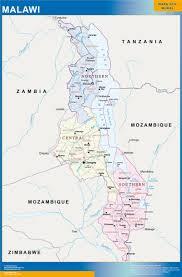 United States Wall Map Laminated by Malawi Wall Map Netmaps Usa Wall Maps Shop Online
