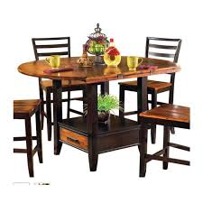 counter height dining table with leaf steve silver abaco drop leaf counter height dining table in acacia