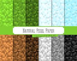 minecraft wrapping paper digital minecraft etsy