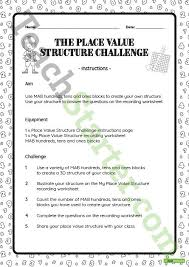 the place value structure challenge teaching resource u2013 teach starter