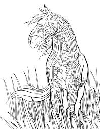 free printable horse coloring pages adults download jpg