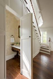 Wallpaper In Bathroom Ideas by Best 25 Bathroom Under Stairs Ideas Only On Pinterest