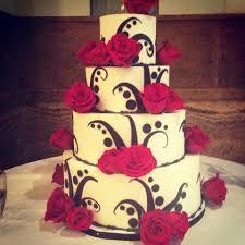 white black and red wedding cake u2013 cozze cakes
