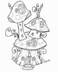 mushroom snail colouring dibujos snail