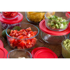 Red Canisters For Kitchen Pyrex 20 Pc Storage Plus Set Walmart Com