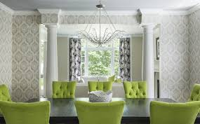Green Dining Room Green Dining Chairs Contemporary Dining Room Martha O Hara