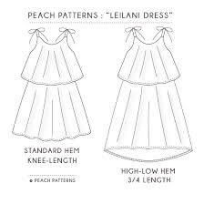 pattern dress pdf leilani dress for girls pdf sewing pattern sizes 1 12 peach patterns