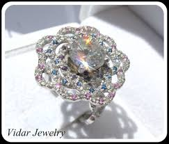 wedding rings flower images Platinum diamonds flower engagement ring vidar jewelry unique jpg