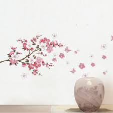 aliexpress com buy sakura flower bedroom room vinyl decal art