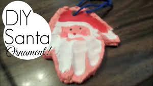 salt dough santa handprint diy keepsake ornament