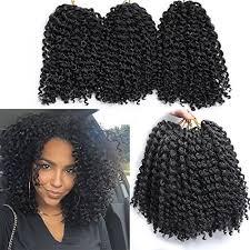 hair crochet 6 packs marlybob crochet hair afro curly hair crochet braids