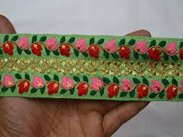 ribbon wholesale trims silk embroidered ribbon sewing trim craft ribbon