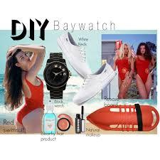 Lifeguard Halloween Costumes Diy Halloween Costume Baywatch Polyvore