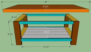 Tv Stand Plans Howtospecialist How by Wooden How To Build A Coffee Table Howtospecialist How Step