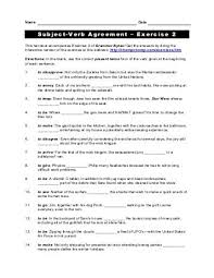 100 subject verb agreement worksheets for grade 7 7 1