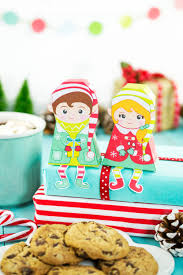 christmas elves printable gift boxes diy mini christmas treat