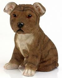 staffordshire bull terrier ornament country artists staffy