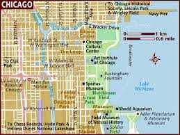 map usa lonely planet map of chicago