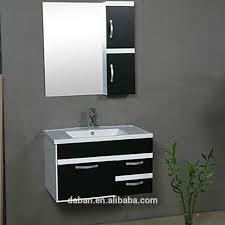 jisheng pedestal plastic bamboo bathroom wall cabinet