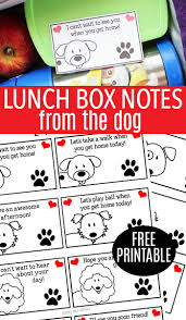 free printable lunch box notes from the dog sunny day family