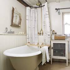cottage bathroom ideas rustic cottage bathroom roll top bath shower rail and curtain poles